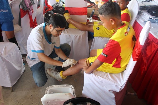 CIH provides medical service for Asia Pacific Football Tournament